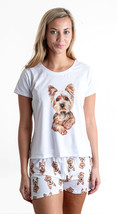 Dog Yorkshire terrier pajama set with shorts for women Yorkie - $30.00