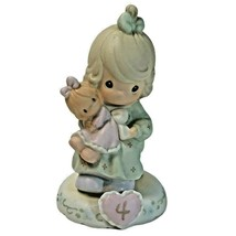 Precious Moments Growing in Grace age 4 Blonde Girl W/ Doll #136239 1994... - $16.82