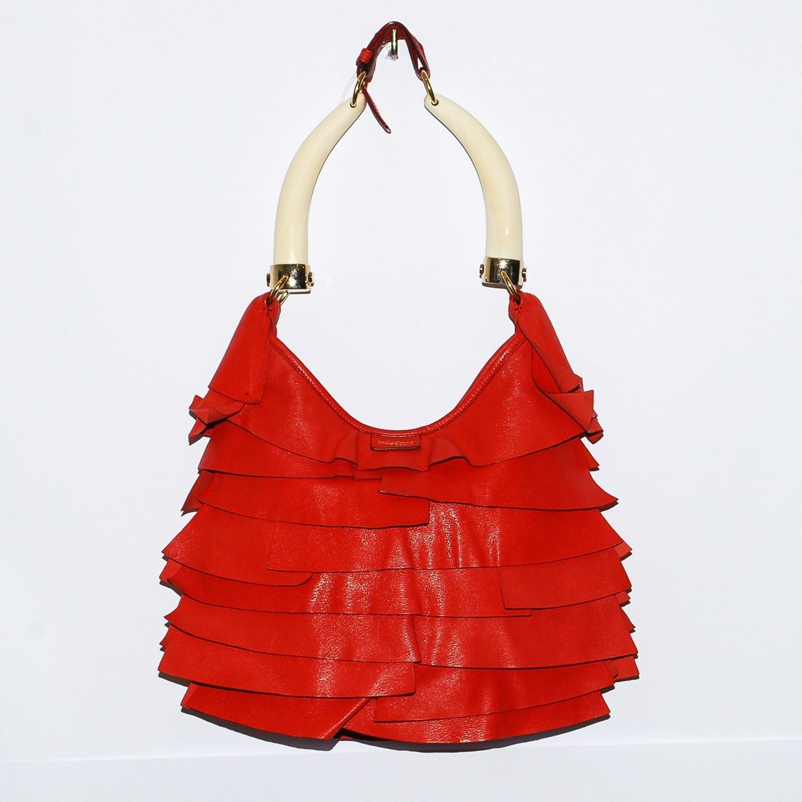 c39cef35ab Yves Saint Laurent Ysl Chevre Leather Red and 15 similar items. S l1600