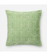 """Loloi  Poly Cover  Down Fill Accent Pillow  22"""" x 22"""" Green Ivory P0339 - $58.20"""