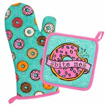 Wit Gifts Oven Mitt & Pot Holder, Donut - $16.81