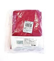 Vintage J.C. Penney Home Cotton Tab Top Curtain Panel Pair Crimson Red 8... - $47.14
