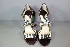 Jimmy Choo 36 Pioneer Leopard Print Canvas Dark Brown Leather Sandals Shoes NEW image 4