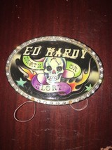Skull Death Or Glory Belt Buckle By ED HARDY - $4.99