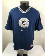 VTG Georgetown Hoyas Nike Jersey Warm Up Shooting Shirt Medium 90s Iverson - $34.99