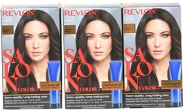 (3) Revlon Salon Color 3 Natural Black Booster Kit Luminous Gray Coverage - $29.69