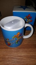ACCENT MUGS HAPPY BIRTHDAY FESTIVE BLUE VINTAGE WITH BOX GIFT NEW - $7.25