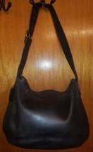 """Vtg COACH #4161 """"Legacy"""" Thick Black Leather Shoulder Bag Hobo Handbag S... - $34.65"""