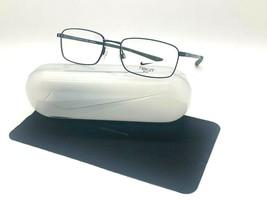 New Nike 4283 403 Navy /GREEN Optical Eyeglasses 56-18-140MM /CASE &Cloth - $57.77