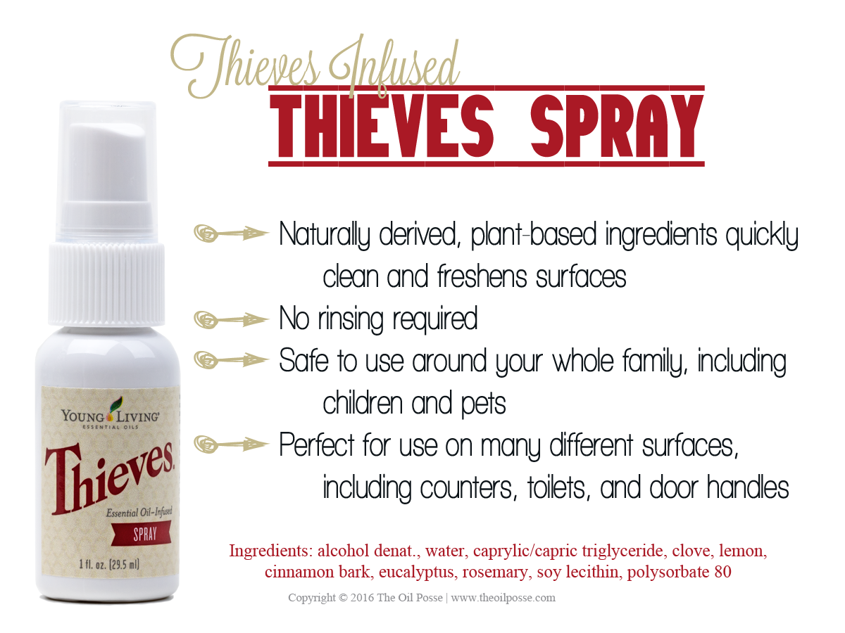 BRAND NEW Thieves Spray Young Living Essential Oil Blend 1oz Bottle~SEALED