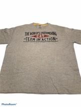 CAT Caterpillar Inc Earthmoving Company Team in Action T Shirt Tee Gray ... - $11.35