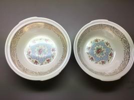 """2 Vintage LIMOGES American Limoges Lyric 1K-S 384-X Serving Bowls 9"""" - $23.88"""