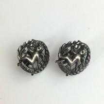 Vintage Sterling Silver VIRGO clip On Earrings August September Astrology - $39.96