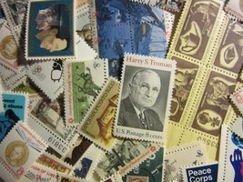 US Postage Stamp Lots Mint, all different older MNH 8 CENT COMMEMORATIVE... - $7.91