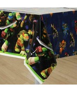 Teenage Mutant Ninja Turtle TMNT Plastic Table Cover Birthday Party Supp... - $5.89