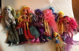Assorted dolls Lot Of 9 Dolls around 2012 Some Are Hasbro Monster High - $27.71