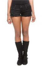 Lovesick Women's Shorts Size 7 Black Denim Skull Lace Distressed Frayed Hem - $18.69