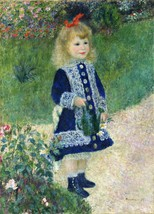 A Girl with a Watering Can Painting by Auguste Renoir Art Reproduction - $32.99+