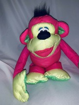FISHER PRICE PUFFALUMP PINK CHATTERING CHIMP MONKEY STUFFED ANIMAL PLUSH... - $17.50