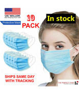 10 PCS Face Mask Medical Surgical Dental Disposable 3-PLY Earloop Mouth ... - $8.45