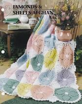 Diamonds & Shells Afghan, Annie's Crochet Quilt Afghan Club Pattern QAC3... - $8.95