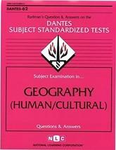 GEOGRAPHY (HUMAN/CULTURAL) (DSST Dantes Subject Standardized Tests) (Pas... - $110.76