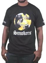 Hall of Fame Pittsburgh Pirates Weed Smoker T-Shirt Black Graphic Cotton Tee image 1