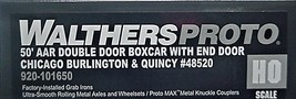 Walthers  PROTO HO CB&Q  #48520 AAR 50' DD Boxcar with end door  920-101650 image 3