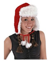 Plush Red Santa Aviator Hat Christmas & Winter Trapper Cap High Quality ... - €17,35 EUR