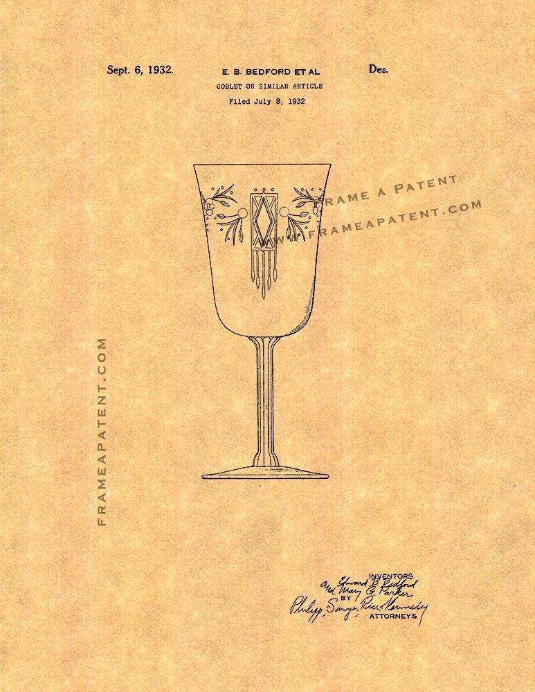 Primary image for Goblet Patent Print