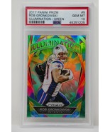 2017 Panini Prizm #5 Illumination Green Rob Gronkowski Patriots  PSA GEM... - $1,899.99