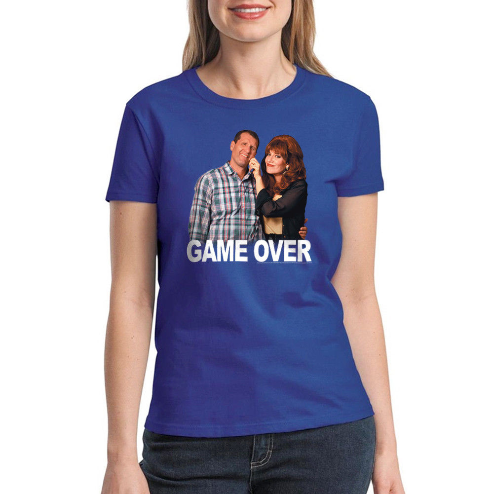 Married With Children Game Over Women's Royal Blue T-shirt NEW Sizes S-2XL