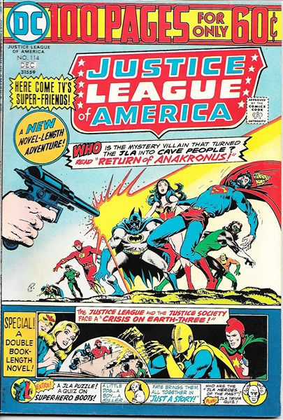 Primary image for Justice League of America Comic Book #114, DC Comics 1974 VERY FINE-