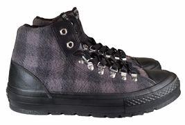 149385 Converse Street Taylor Woolrich BLACK Plaid GREY Hiker Boot Chuck Sneaker qttvrw