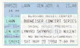 Lynyrd Skynyrd & Ted Nugent 5/28/94 Cuyahoga Falls OH Concert Ticket Stub! - $4.94