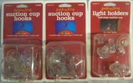 NEW 3 packages SUCTION CUP HOOKS AND LIGHT HOLDERS CHRISTMAS - $9.41
