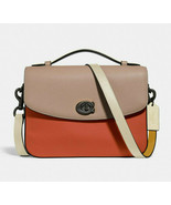 Coach Cassie Leather Crossbody Colorblock Satchel Messenger ~NWT~ Ginger... - $292.05