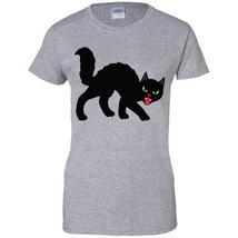 Black Halloween Cat Women T-Shirt - $14.99+