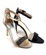 Nine West Mana Leather High Heel Dressy Ankle Strap Sandals Choose Sz/Color - £48.88 GBP