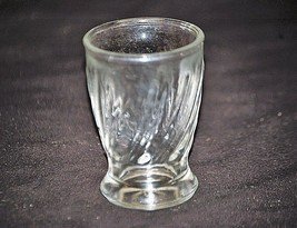 Old Vintage Swanky Swig Flared Footed Clear Juice Glass w Swirl Sides MCM - $9.89