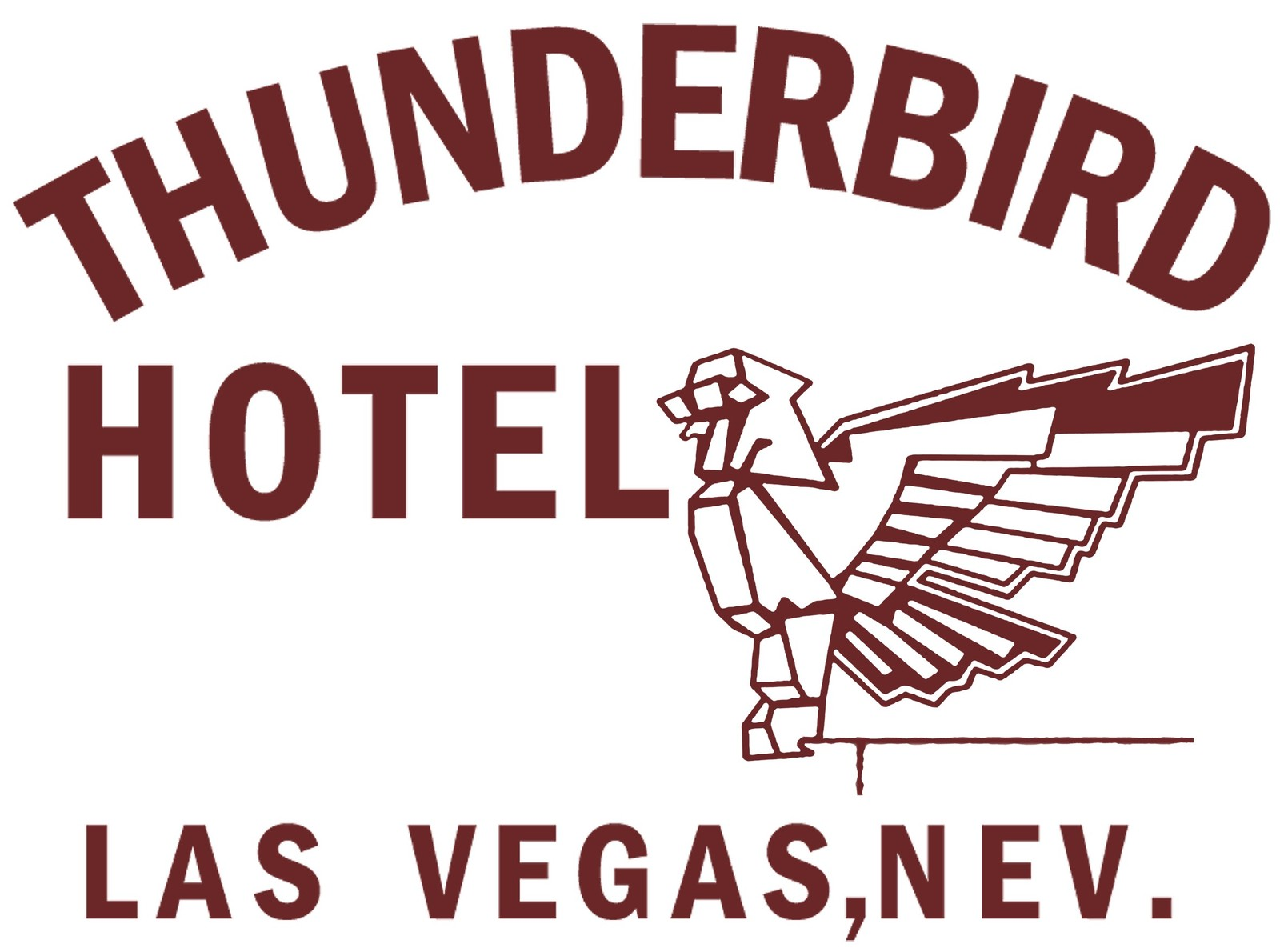 Thunderbird ladies 100% cotton t-shirt boxing ali sonny liston hotel retro cool