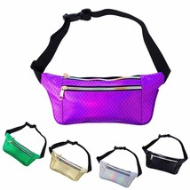 iAbler Holographic Fanny Pack for Women and Men Metallic 80s Shiny Fanny... - $15.24+