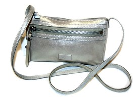 NWT Fossil Dawson Mini Cross-Body Bag Champagne Metallic Leather - $79.99