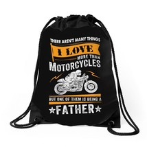 Motorcycles Father Drawstring Bags - $30.00
