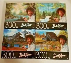 "Lot of 4 Bob Ross 300 Piece Jigsaw Puzzles by Cardinal (14""x11"")  - $18.43"