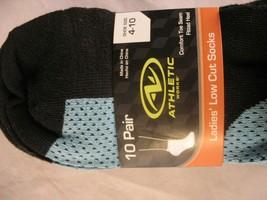Athletic Works Women's Light No Show Socks 10 Pairs Shoe Sizes 4-10 polka dot image 2