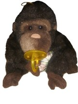 VINTAGE 1992 PLUSH CREATIONS BABY GORILLA MONKEY Pacifier Jungle Theme - $14.84