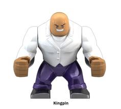 Kingpin Marvel Comics Super Heroes Big Size 7cm Custom Building Blocks Toy - $7.95