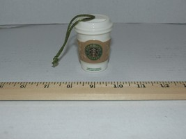 STARBUCKS Ornament Christmas Holiday 2008 Mini White to Go Cup Free Shipping - $19.55