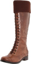 New Cole Haan Air Whitley Leather Knit-Cuff Knee-High Tall Boot ~Amber/B... - $170.99